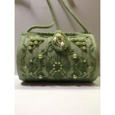 Bauletto in tessuto verde