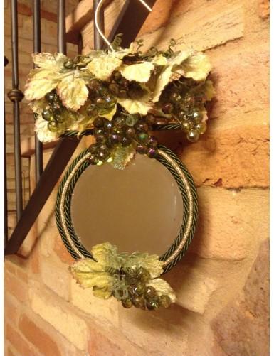 Acc 03/20 Specchietto decorativo con uva e foglie € 18,00 sconto 20% € 14,40