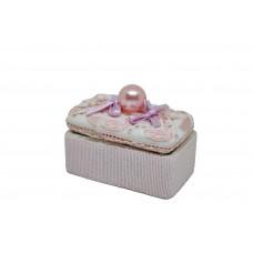 Scatolina ceramica con perla rosa