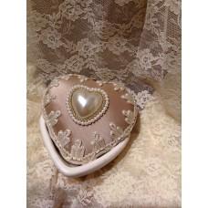 scatola cuore cotto bianco grezzo