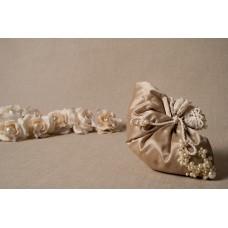 Sacchettino gioiello in duchesse champagne - 005