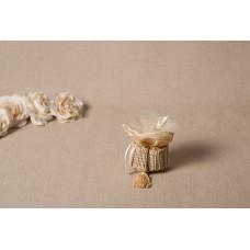 Sacchettino tronchetto in pizzo tulle - 008