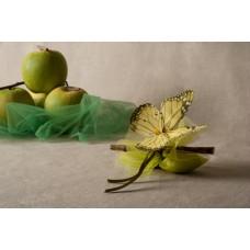 Farfalla con fiocco e fiore di tulle - 008